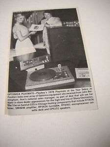 DEBRA JO FONDREN w/ Music exec 1978 PROMO Picture/Text