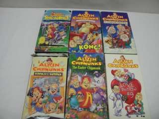 Lot Alvin and the Chipmunks VHS Video Sing Alongs Christmas Love