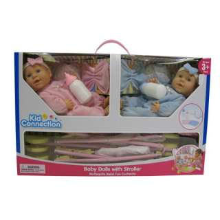 Kid Connection Baby Doll with Stroller Set
