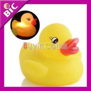 Baby Bath Toy Yellow Color Changing Duck LED Lamp Light