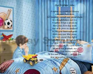 For Nephew Personalized Poem Birthday Or Christmas Gift Bedtime Prayer
