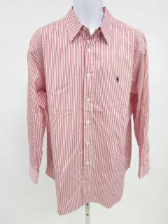 RALPH LAUREN Blue Label Mens Red Striped Shirt 17 32/33