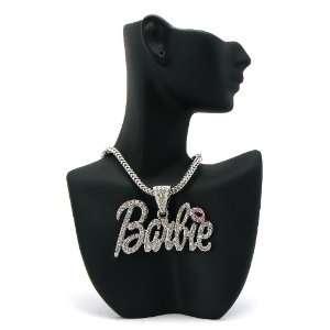 Barbie Nicki Minaj Pendant with 18 Inch Franco Chain Necklace Jewelry