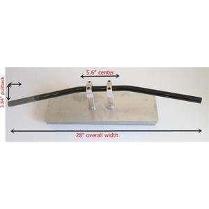 black Motorcycle drag bar handlebar 7/8 GS XS 550 750