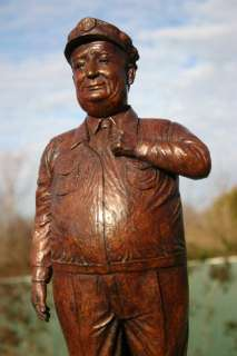 GLEASON HONEYMOONERS RALPH CRAMDEN BUS DRIVER ART SCULPTURE