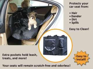 New Hammock Pet Dog Cat Car Seat Cover Black w/ Pockets