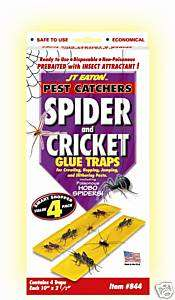 Spider Cricket Glue traps Large Pest Catchers 4 boards