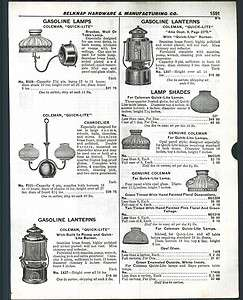 1929 ad Coleman Quick Lite Gasoline Chandelier Shades