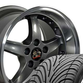 17 9/10.5 Anthracite Cobra Wheels Nexen Tires Rims Fit Mustang? 94
