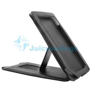 For Nook Color Black Leather Case Cover Pouch w/Stand