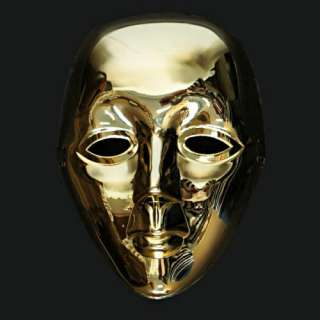 Golden Drama Opera Face Full Mask Masquerade Costume Ball Fancy Party
