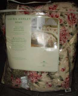 LAURA ASHLEY Cottage Chic Pink Sage Rose Twin COMFORTER