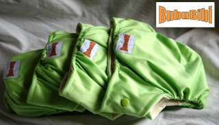 Bamboo Baby Cloth Diapers Organic BLUE & GREEN New