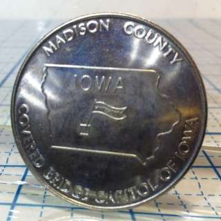 MADISON COUNTY IOWA COVERED BRIDGE TOKEN 1979 COIN #10