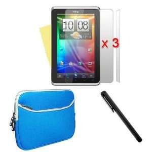 inch Laptop Dual Pocket Carrying Case In Blue + 3 packs Clear Screen
