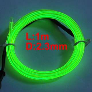 1M Flexible Neon Light Glow EL Wire Rope Strip + Driver