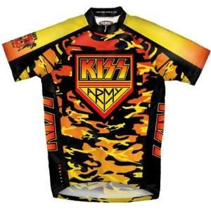 Primal Wear Mens KISS Army Rock Short Sleeve Cycling Jersey
