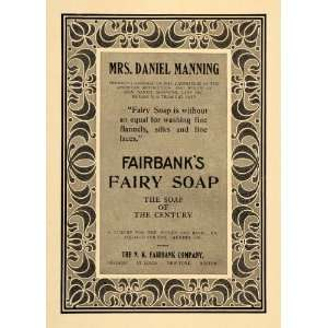 Fairy Soap Mrs. Daniel Manning   Original Print Ad