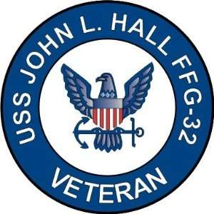 US Navy USS John L. Hall FFG 32 Ship Veteran Decal Sticker