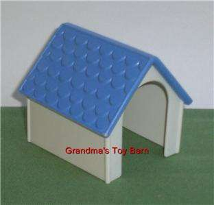 Fisher Price Little People Blue White Dog House