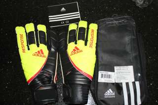 ADIDAS RESPONSE PRO MOTION ARRESTER GOALKEEPER GLOVES SIZE 8 11