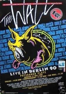 PINK FLOYD LIVE IN BERLIN 90 U.K. POSTER PIG & WALL