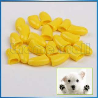 20Pcs Nail Caps Grooming for Pet Dog Cat Paw Claws S/M