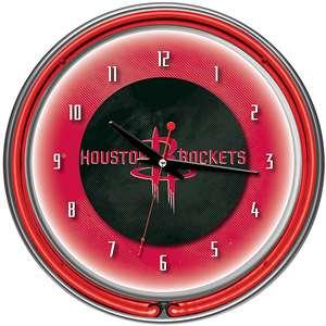 Houston Rockets NBA 14 Neon Wall Clock Decor