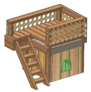 INSULATED DOG HOUSE PLANS, 15 TOTAL, LARGE DOG, EASY TO BUILD PLANS ON