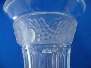 Nachtmann German Lead Crystal Vase Trumpet Shape Frosted Band