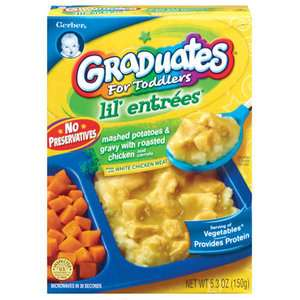Gerber Graduates Lil' Entrees Mashed Potatoes & Gravy With Roasted