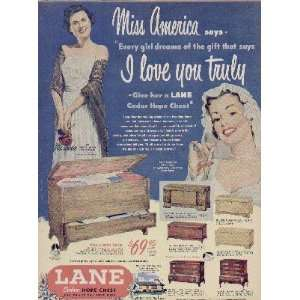 Hope Chest.  1950 LANE Cedar Hope Chests Ad, A4821A. Everything