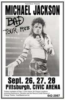 Michael Jackson 1988 World Tour Concert Poster Print