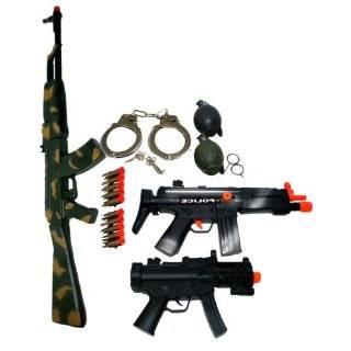 Kids toy army weapon gun ak47 machine guns play set with b o grenades