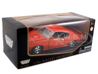 model of 1969 Pontiac GTO Judge die cast car model by Motormax