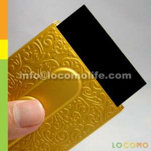 SLIDING Aluminium Business Credit Card Case Holder GOLD