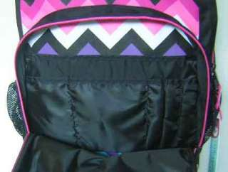 Roxy Pink White Yellow Blue Black Design Laptop Computer Backpack Book