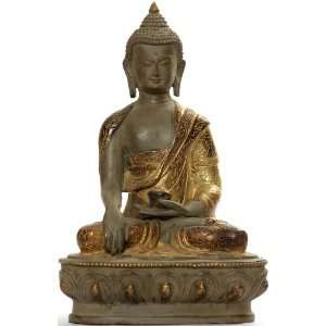 Buddha in Bhumisparsha Mudra   Copper Sculpture