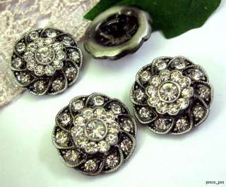 Sparkling Crystal Rhinestone Antique Buttons #S379