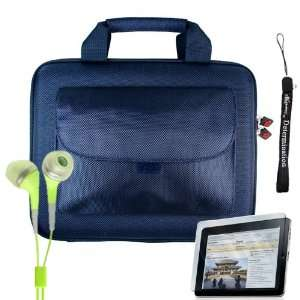 Blue Cube with Pocket Series Shell Hard Carrying case for