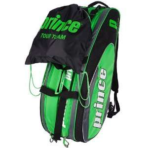 Prince 10 Tour Team 6 Pack Tennis Bag: Sports & Outdoors