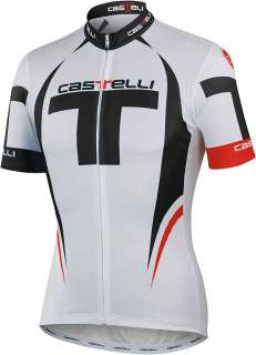 CASTELLI Free CYCLING JERSEY White/Black/Red LARGE Full Zip