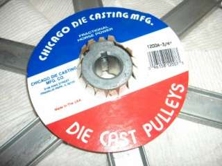 100s V Belt Pulley 1200 A NEW Zinc Die cast 12 od Bore Sizes 1/2,5/8