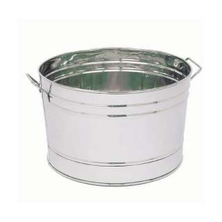 Round Stainless Steel Tub / Ice Bucket Cooler by Achla