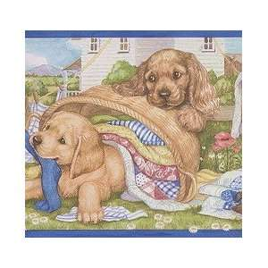 Laundry Puppies Wallpaper Border: Home & Kitchen